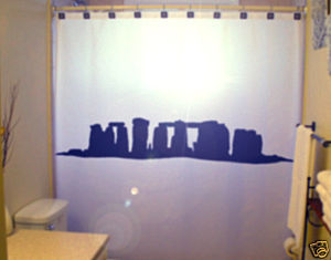 SHOWER CURTAIN Stonehenge stone circle Salisbury Plain