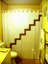 SHOWER CURTAIN Stairway To stairs steps up to heaven - $65.00