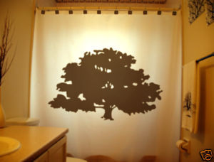 SHOWER CURTAIN Tree Mighty Oak Acorn Grow Branches leaf