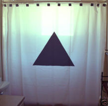 SHOWER CURTAIN Triangle geometry shape equilateral poly - $57.00