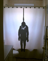 Halloween SHOWER CURTAIN Hangman Hanged Man Noose scary - $65.00