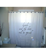 SHOWER CURTAIN bible verse Knock & Door Will Be Opened - $57.00