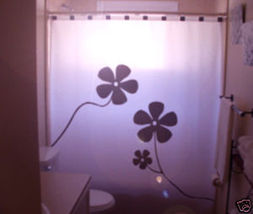 SHOWER CURTAIN Flowers Floral Design Dandelion Daisy - $65.00