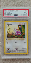 Pokemon Rattata 61/102 1st Edition Base Set PSA 9 1999 TCG Game Shadowless - $29.99