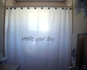 SHOWER CURTAIN inpiration Create Your Day Tabula Rasa