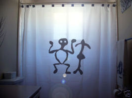 SHOWER CURTAIN Prehistoric Man Petroglyph rock carving - $65.00