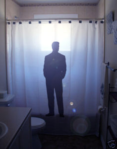 SHOWER CURTAIN Sexy Nude Naked Male Man Business Suit