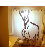 SHOWER CURTAIN Sexy Nude Naked Male Man Six Pack Abs - $99.99