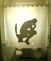 funny SHOWER CURTAIN The Thinker Rodin Auguste Penseur  - $79.99
