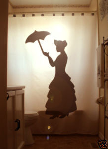 SHOWER CURTAIN Woman Umbrella chic dress pioneer lady