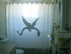 SHOWER CURTAIN animal Dragon fire breathing fantasy 2