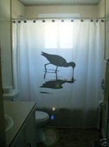 SHOWER CURTAIN animal bird Avocet pied avian wader - $65.00