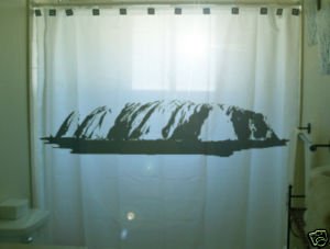SHOWER CURTAIN monument Ayers Rock Uluru Australia oz