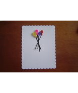White Handcrafted Paper Quill Balloon Card - $5.95