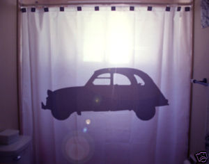SHOWER CURTAIN Car vintage classic old automobile auto