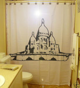 SHOWER CURTAIN city Sacre Coeur Basilica Paris France