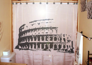 SHOWER CURTAIN monument Colosseum Rome Italy roman