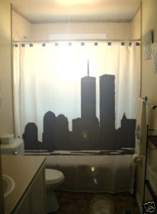 SHOWER CURTAIN world trade center twin towers new york