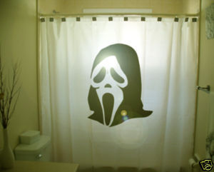SHOWER CURTAIN horror scary scream Ghost Face mask