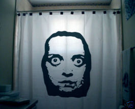 SHOWER CURTAIN horror BugEyed Woman freaky scary fear - $79.99