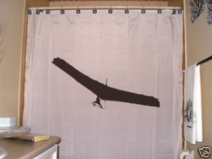 SHOWER CURTAIN Hang Glider paragliding flying parachute