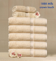 1 NEW BEIGE 1888 MILLS CROWN TOUCH HAND TOWEL BATH TOWEL AND WASHCLOTH SET - $18.23