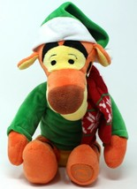 """Disney Store Winter Tigger Plush With Christmas Hat Scarf And Sweater 12"""" - $15.58"""