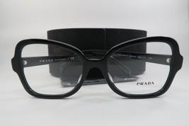 New Authentic Prada VPR 25S-F 1AB-1O1 Shiny Black Eyeglasses 53mm w/ Case - $84.64
