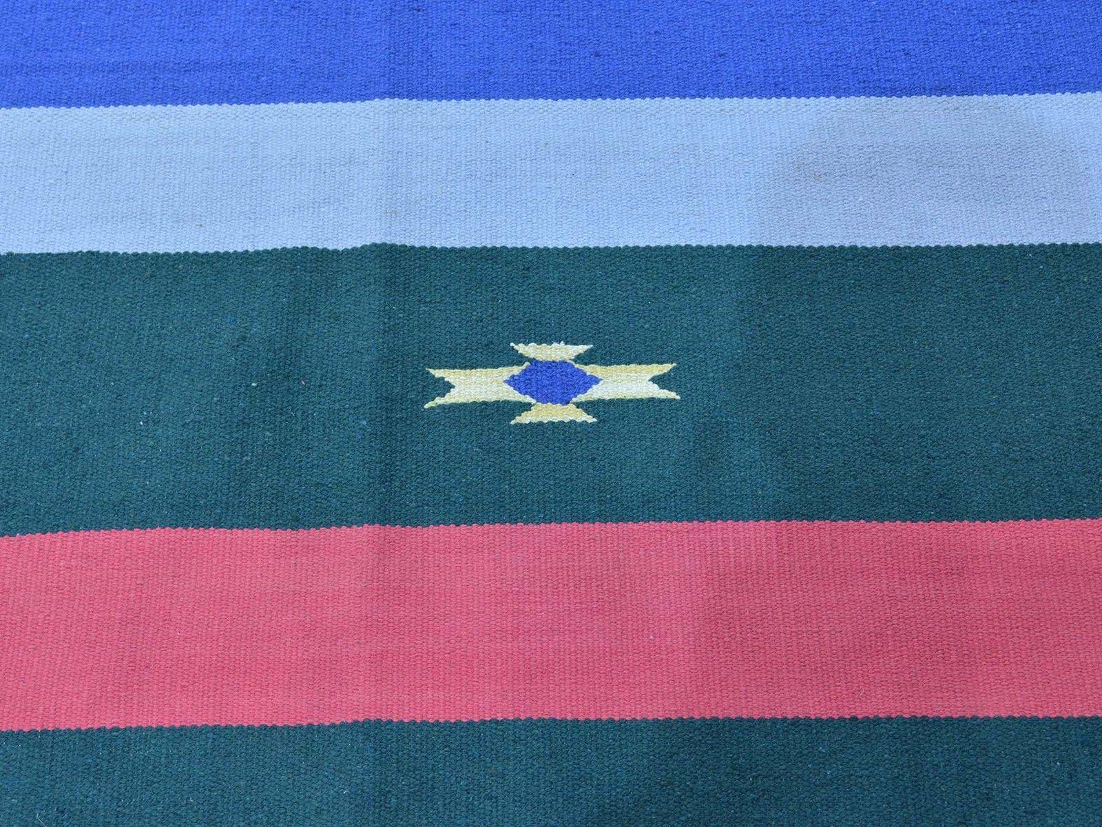 "8'x10'3"" Hand Woven Flat Weave Killim Navajo Design Oriental Rug G26090"