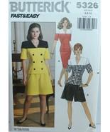 Butterick Sewing Pattern 5326 Misses Top Skirt Split Petite Size 6 8 10 - $12.59