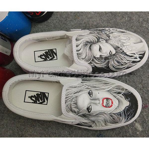 2227043d02 Custom Vans Shoes Lady Gaga Vans Hand Painted Shoes Men Women s Sneakers.  Next. 1