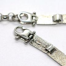 Bracelet Silver 925, Flags Nautical Glazed Tiles, Long 18 cm, Thickness 5 MM image 3