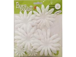 Petaloo Flora Doodles White Double-Layer Daisy Flowers #1262000