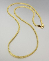 18 kt Gold EP Plated 18 Inch Weave Style Chain Necklace - €9,36 EUR