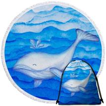 Blue Cute Whale Beach Towel - $12.32+