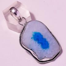 "Blue Botswana Agate Gemstone Valentine Day Gift Jewelry Pendant S-2.10"" AU-681 - $3.41"