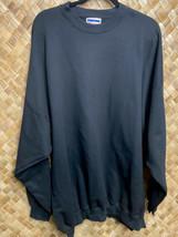 Vintage Ultimate Hanes 3XL 54-56 Crewneck Black Blank Sweatshirt - $34.65