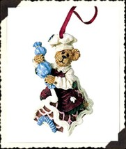 "Boyds Bearstone Ornament - ""Simon...Icing Touches"" Ornament- #25746 -NIB- 2001 - $15.99"