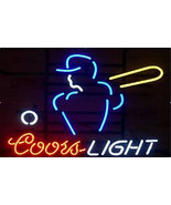 New Coors Light MLB Baseball Sport Beer Real Glass Handmade Neon Sign 17... - $107.53