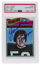 Jack Ham Pittsburgh Steelers Signed 1977 Topps All Pro #140 Slabbed Card... - $77.59