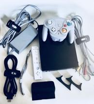 Original Nintendo Wii Black Video-game Console 8 Part Bundle - Tested & ... - $65.44