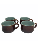 Red Wing Pottery Village Green Minty Stoneware Set of 4 Coffee Mugs Cups  - $29.69
