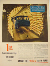 1945 Famous Ford Firsts infra-red rays for drying inside-out Print Ad  - $9.99