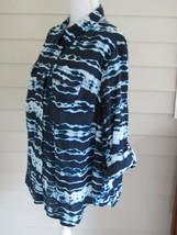 Jones New York Multi Color Long Sleeve/Tab Sleeve 100% Cotton Button Dow... - $27.71