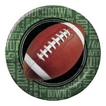 """Football Frenzy 8 Ct 9"""" Dinner Lunch Plates Tailgate Birthday Party - $3.79"""
