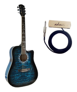 ADM 41 Inch Full Size Dreadnought Cutaway Acousitc Guitar with Soundhole... - $190.00
