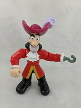 "Mattel Captain Hook Figure 5.5"" 2013 CBC66 Jake and the Neverland Pirates - $4.95"