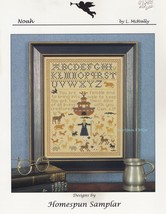 Noah, Homespun Sampler Cross Stitch Pattern Booklet HS 9710 Ark Alphabet... - $4.95