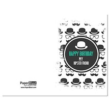 Hipster Pattern Birthday Card - with Custom Handwritten Message - mailed... - $2.77