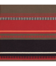 BTY Sina Pearson Serape Oaxaca Red and Black Outdoor Upholstery Fabric 3... - $30.40